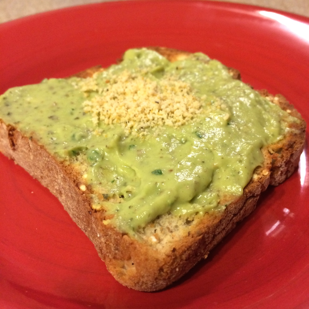 pesto on toast